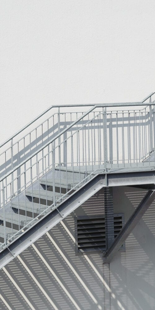 Structural Metal Staircase for access to building